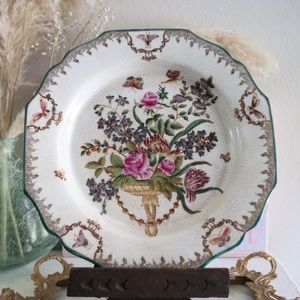 Decorative Wall Display Plate Butterfly Floral